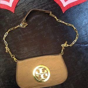 Tory Burch Crossbody w/square gold chain
